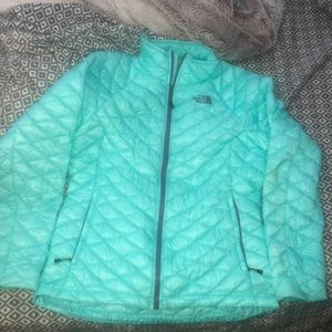 blue thermoball north face jacket